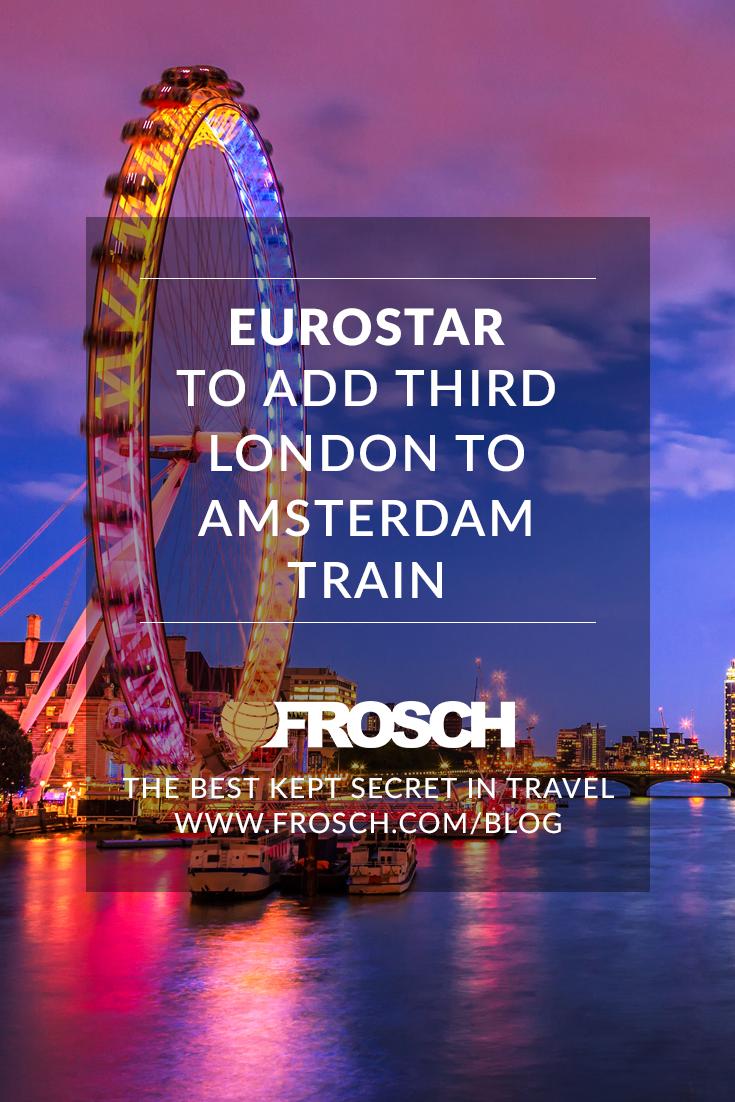 Eurostar to Add Third London to Amsterdam Train