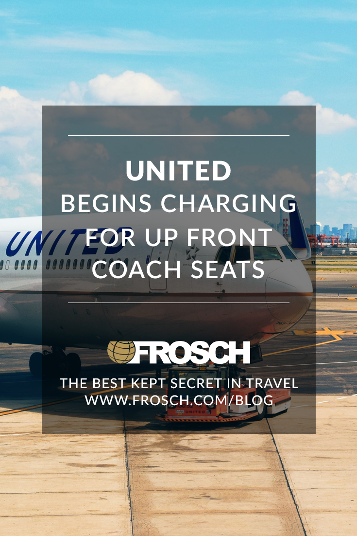 United Begins Charging for Up-Front Coach Seats