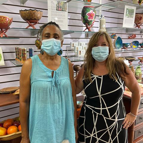 Shannon in USVI shops