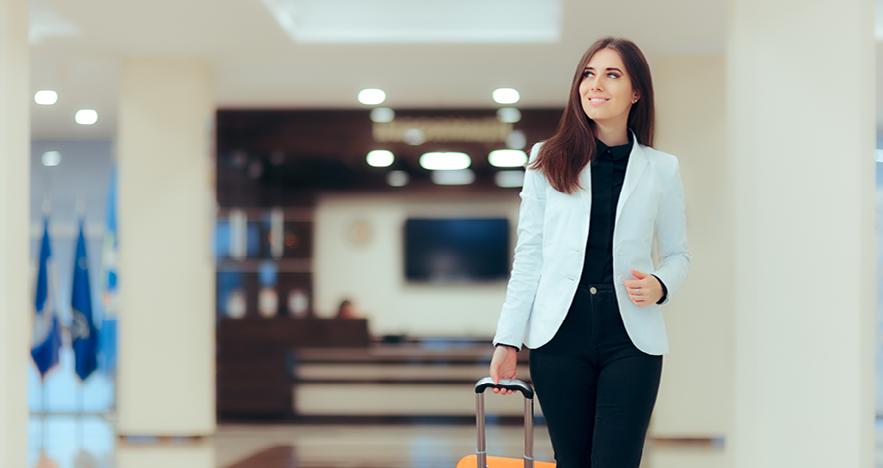Corporate Traveler at luxury hotel