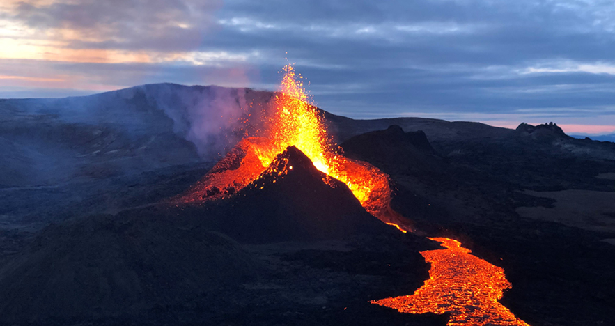 Iceland Trip Review Bryan Leibman Image of Erupting Volcano