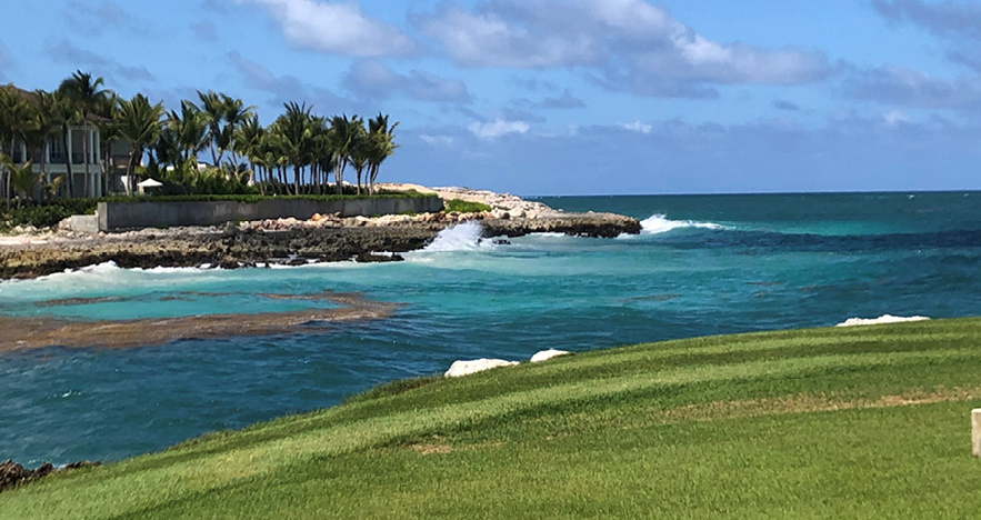 DR Golf Course overlooking the ocean